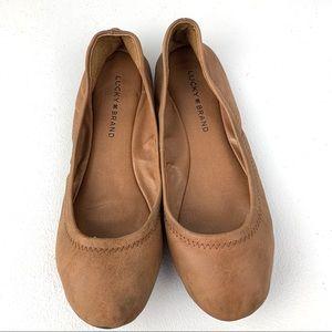 Lucky Brand Cognac Ballet Flats size 8.5